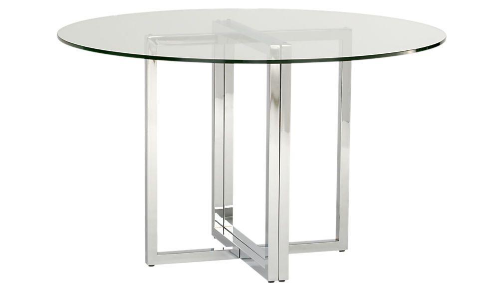 Silverado Chrome 47 Round Dining Table Reviews Glass Round