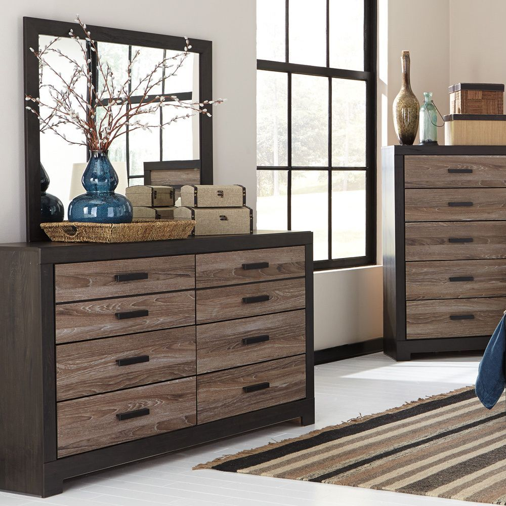 Bedroom Furniture Overstock harlington gray dresser w/ mirror from signature designsashley