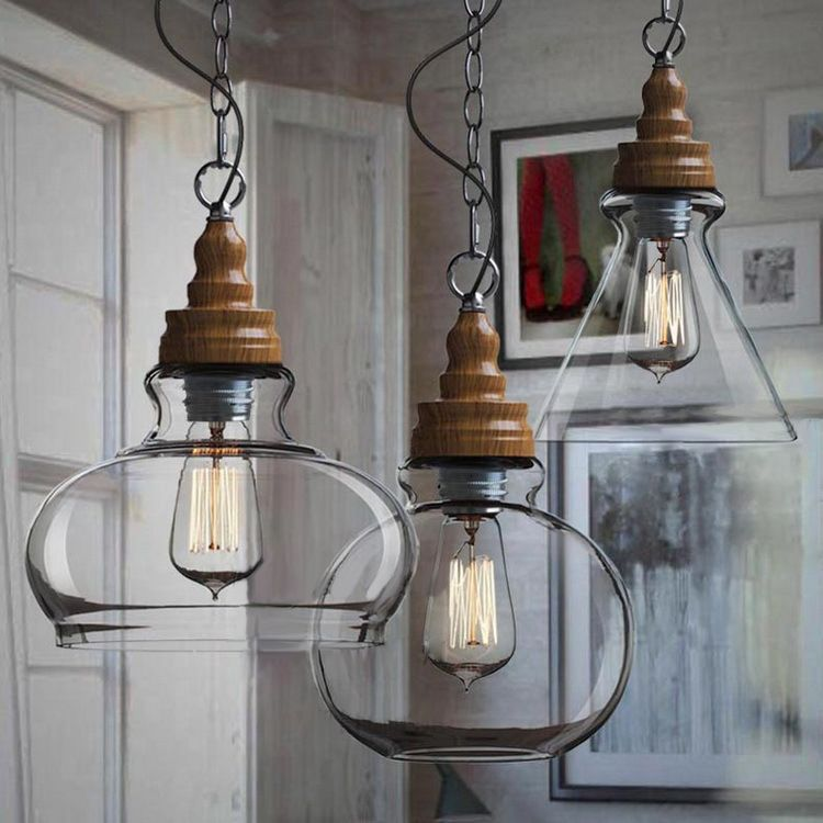 New products American&Europe country style E27 vintage glass pendant lamp china supplier