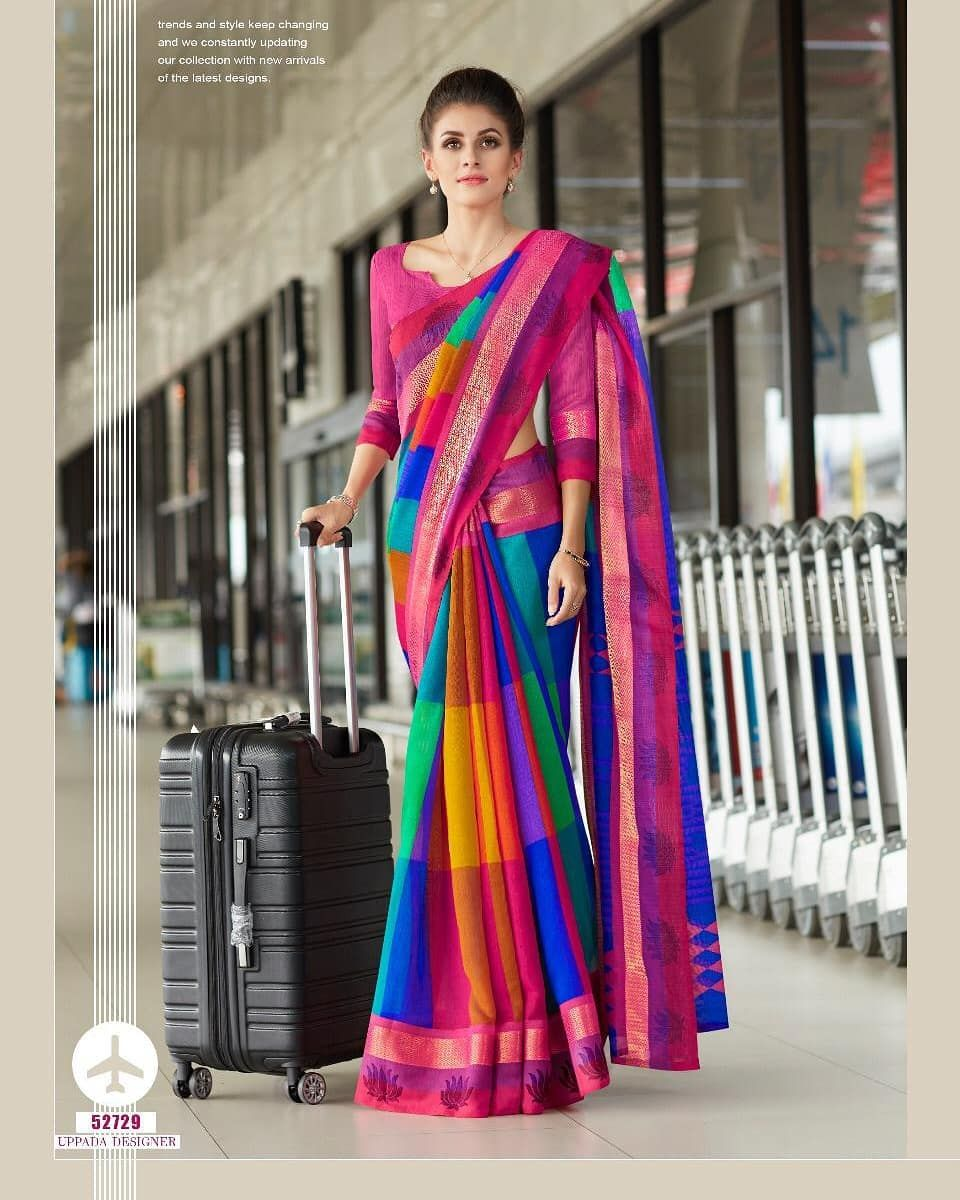 """899e1192d4 elite fashions. on Instagram: """"*#Wow #Collections* 🌹Linen 🌹 *#Beautiful  #Digital #Printed #Pure #Linen #Sarees With Printed #Fancy #Blouse #Fabric  ..."""