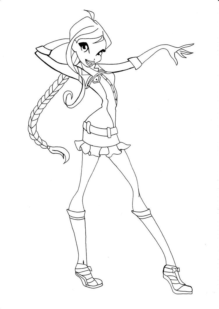 Winxclub Oc Blossom Coloring Books Winx Club Coloring Pages