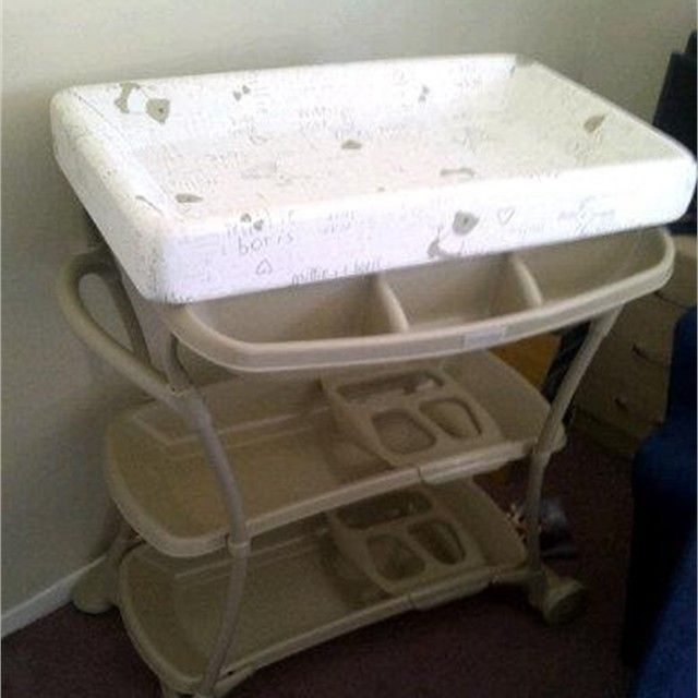 Baby Bath and Changing Unit: Baby bath and changing unit. plastic ...