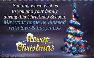 christmas wishes to you and your family