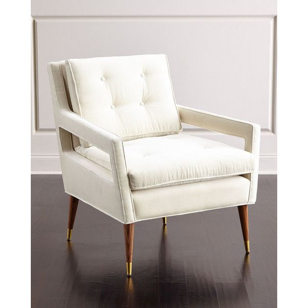 Haute House Morris Tufted Back Chair ($2,199) ❤ Liked On Polyvore Featuring  Home