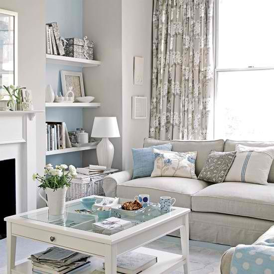 I Love My Blue Grey And White Living Room I Am Having So Much Fun