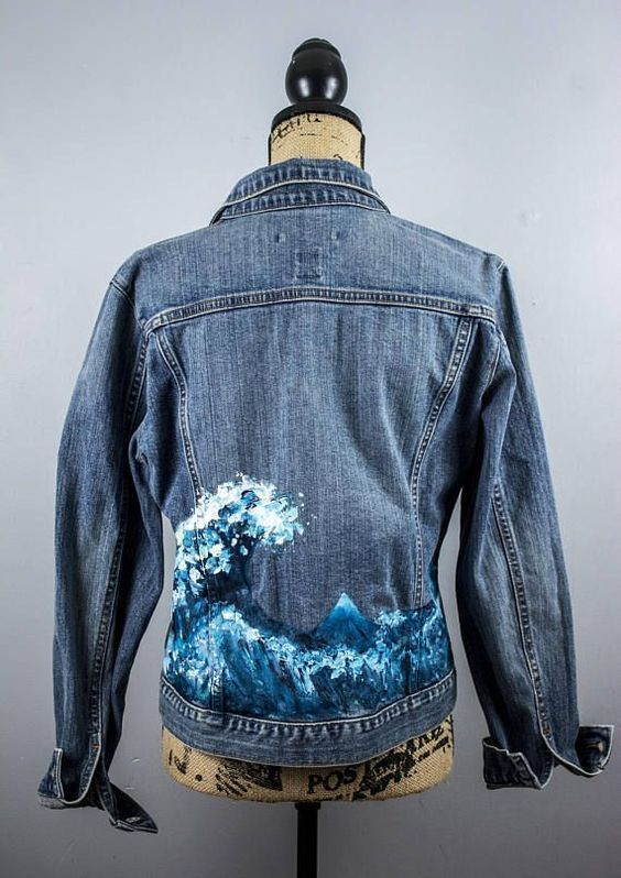 21 Bestickte Jeansjacke für cooles Aussehen  #coole # bestickte #Jacke #Jean     Kochen