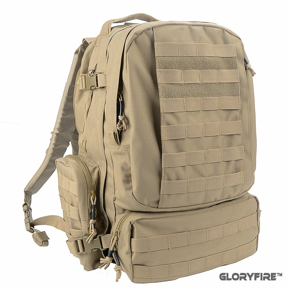 204eaa8246 GLORYFIRE Tactical Backpack 3 Day Assault Pack for Outdoor Hiking Camping  Trekking Hunting. The GloryFire