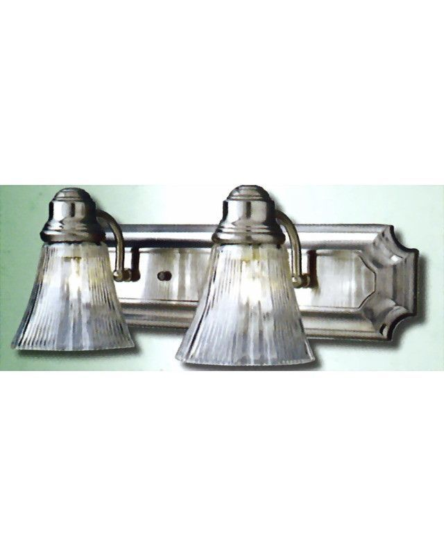 epiphany lighting 103282 bn two light bath wall light in brushed