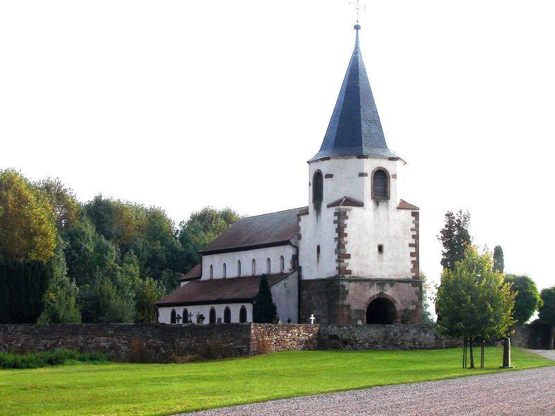 Église du Dompeter (Maison de Pierre) – Située au centre du triangle Molsheim-Dachstein-Avolsheim, Bas-Rhin (France)