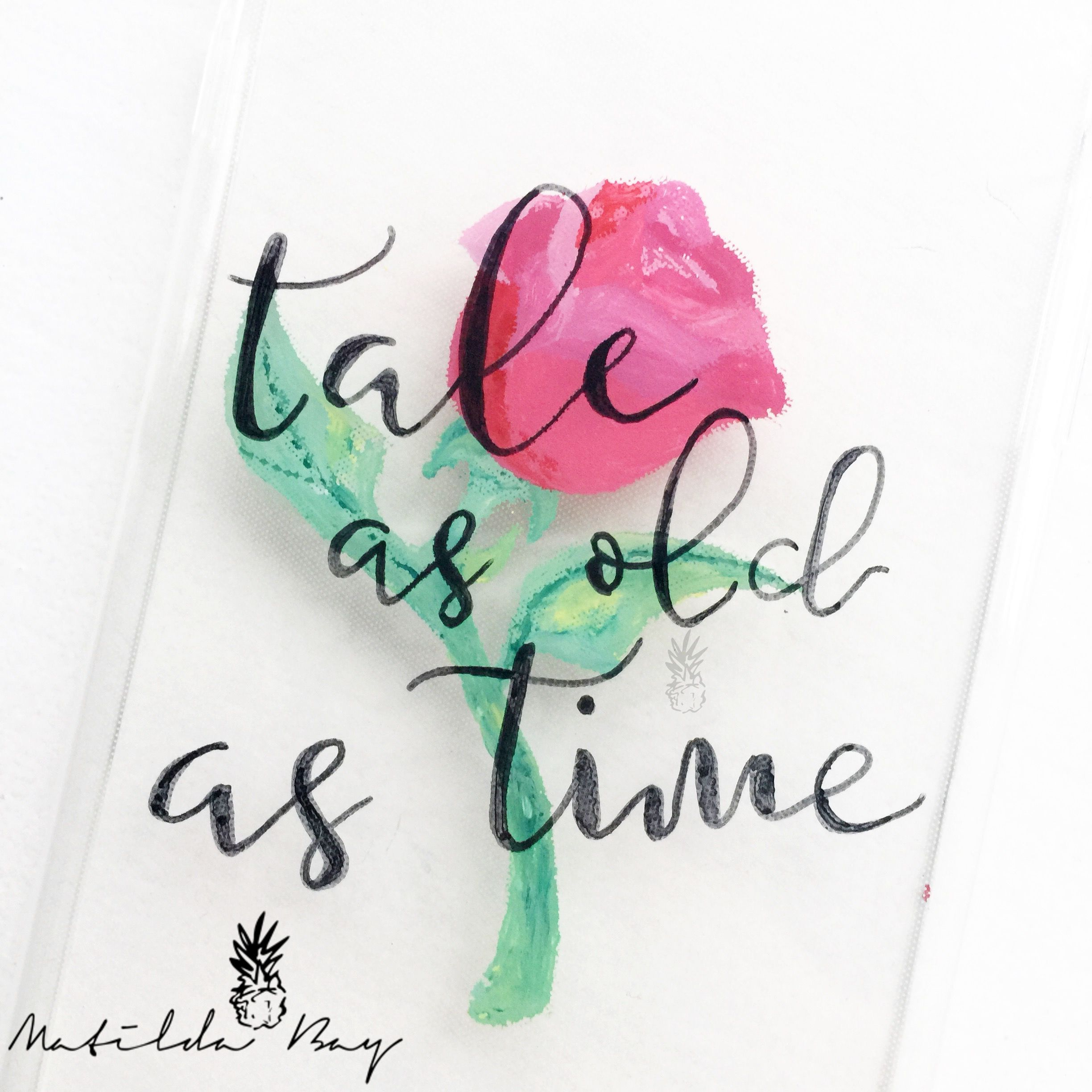 Hand Painted 'Tale as Old as Time' Quote Beauty and the ...