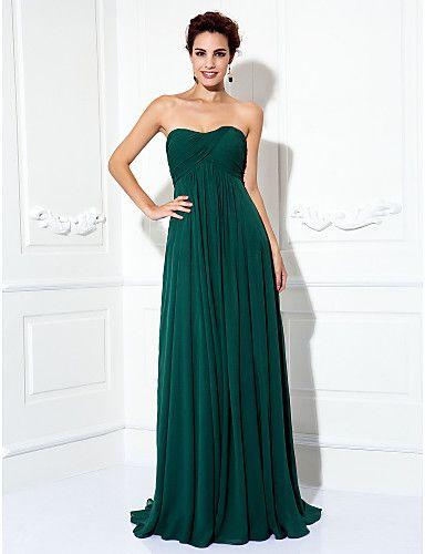 a37b6f5da420 TS Couture Formal Evening   Prom   Military Ball Dress - Dark Green Plus  Sizes   Petite A-line   Princess Strapless Sweep Brush Train Chiffon 2015 –   79.99