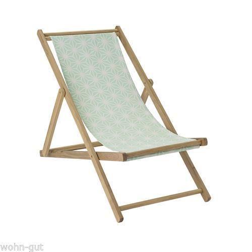 Deckchair Liegestuhl Beach Chair Liegesessel Bloomingville Holz