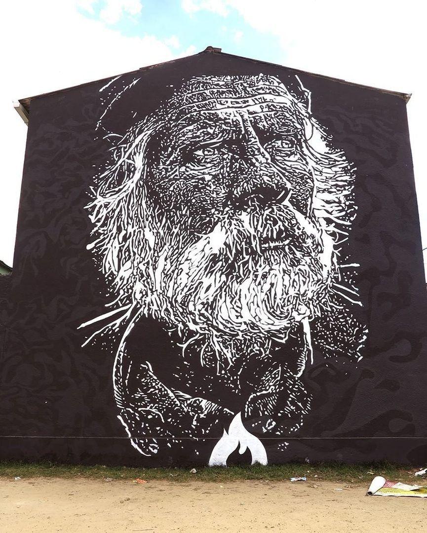 Streetart news wall u hula japu u eyder salazar tobon