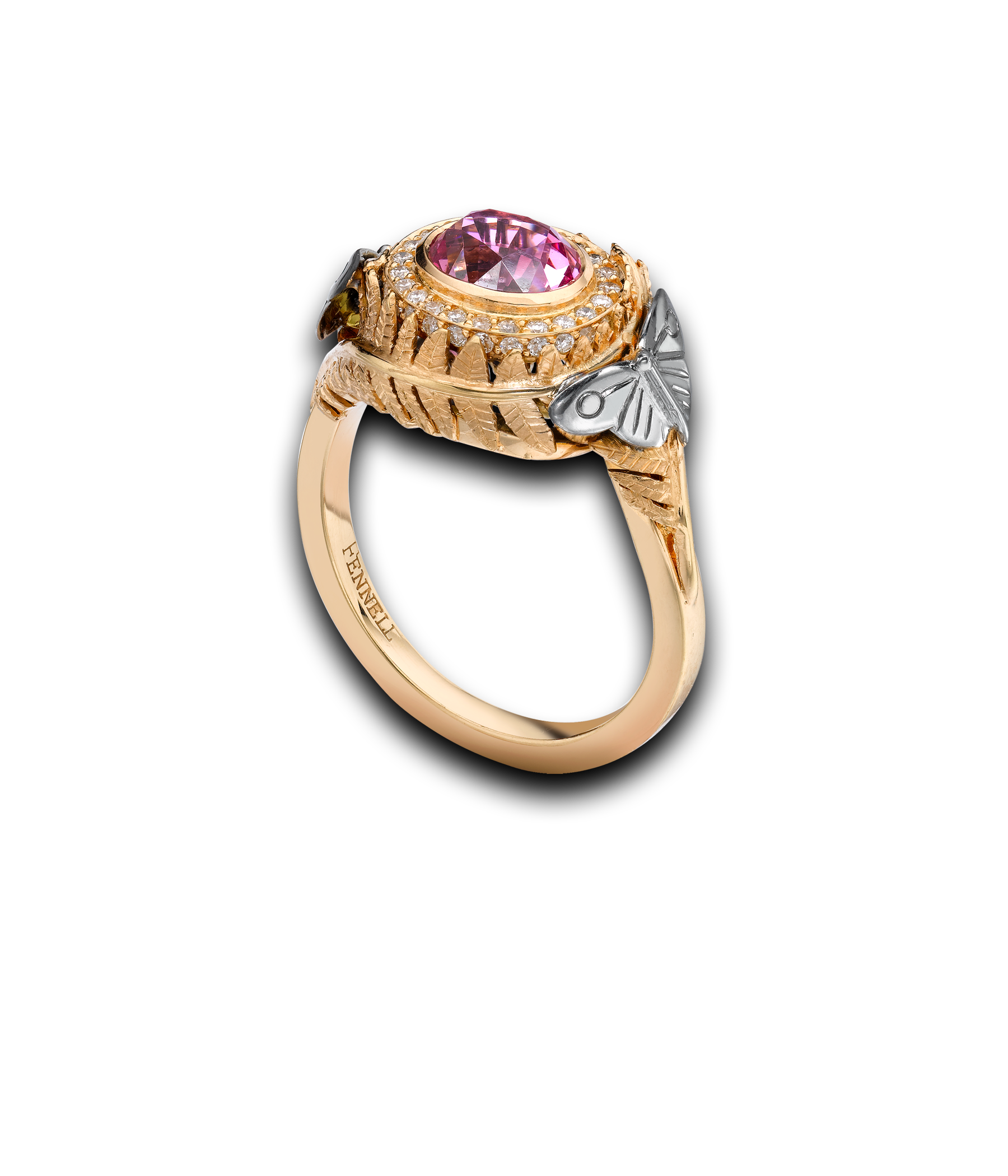 Theo fennell pink spinel fern tryst ring dream jewelry