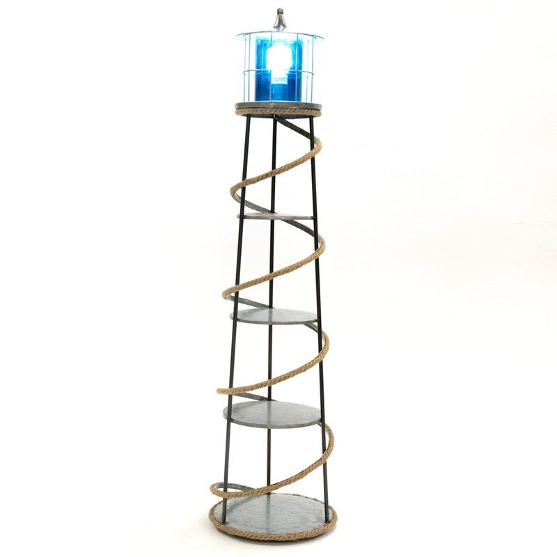 Metal Lighthouse Floor Lamp Coastal Floor Lamps Floor Lamp With Shelves Floor Lamp