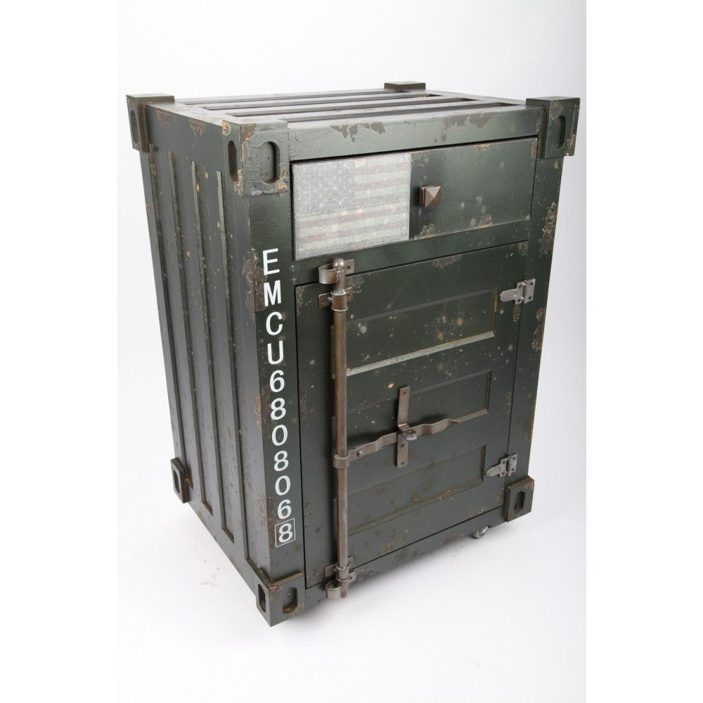 Lifestyle Designer Mobel Schrank Sideboard Container Im Retrolook Grau Schrank Sideboard Container