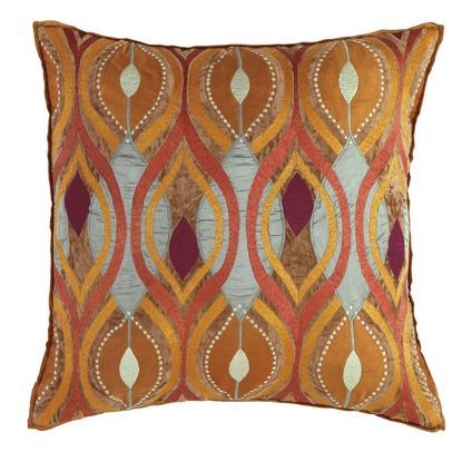 Deco Pillow In Copper Patterned Pattern Decorative Pillows Room Furnishing Accessories Accent From Company C