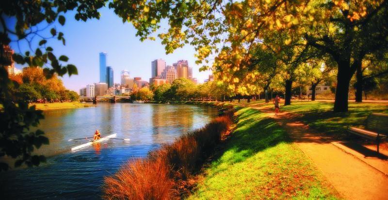 Autumn In Melbourne View Along The Yarra River Melbourne Attractions Australia Tourist Melbourne Zoo