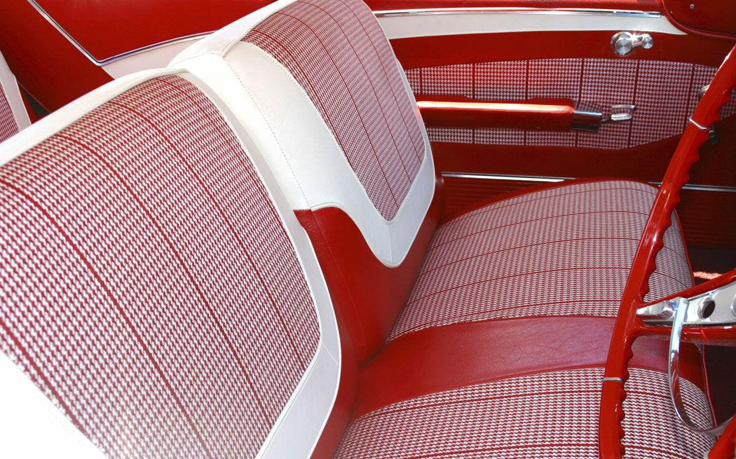 red houndstooth interior car interiors pinterest car interiors cars and classic car. Black Bedroom Furniture Sets. Home Design Ideas