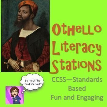 Wake your class up with this engaging and entertaining formative assessment. With a little preparation and careful instructions, students can rotate through several textually based activities with simply a rotate from the teacher every 9-10 minutes.You get 9 literacy stations based on the tragedy Othello The stations include engaging lessons about characterization, plot, theme,literary lens, and a tiny Socratic Seminar.Using stations with older students creates interest and adds engagement…