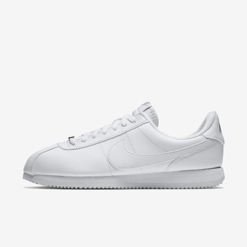 df536eea Nike Cortez Basic Men's Shoe, Size: 10, White/White-Wolf Grey-Metallic  Silver