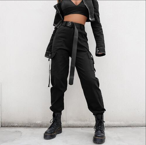 Casual High Waist Pants With Elastic Around The Waist For A Slimming Fit Breathable Comfortable Stylish Streetwear Girl Women Pants Casual Cargo Pants Women