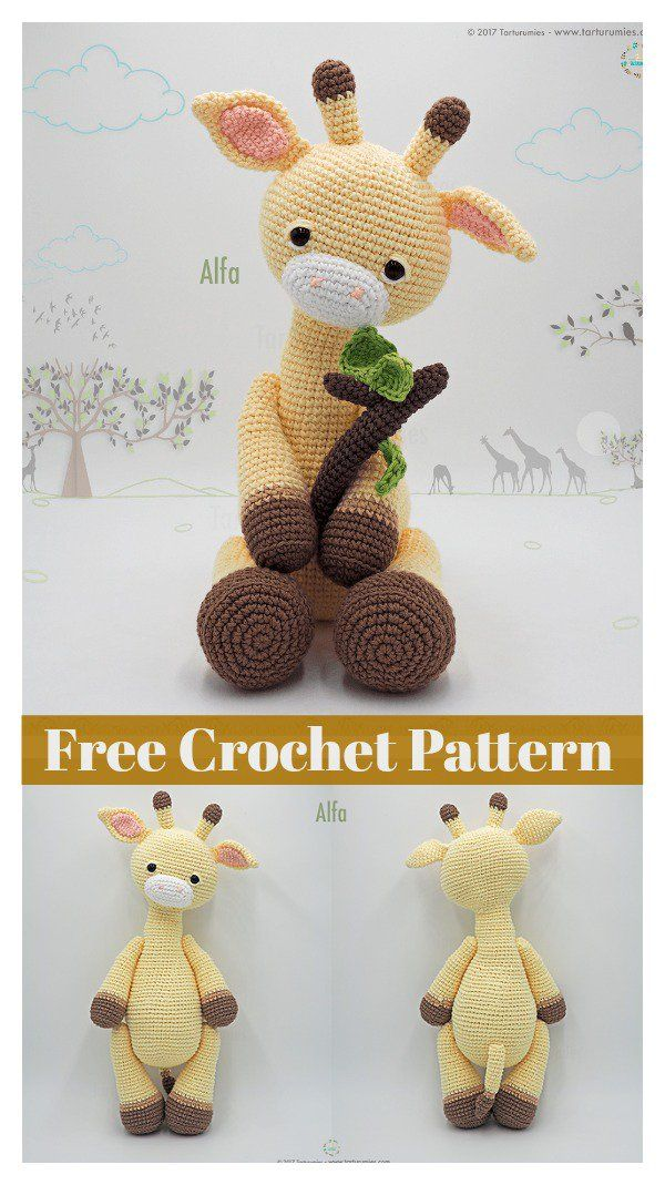 Hippo and Giraffe Amigurumi Free Crochet Pattern | Pinterest ...