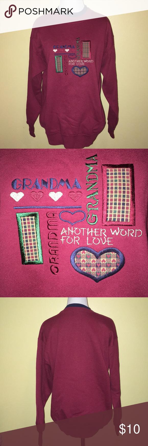 Grandma Another Word For Love Sweatshirt Love Words Sweatshirts Sweatshirts Hoodie