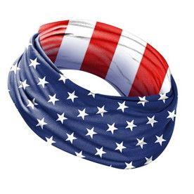 Mission Usa Flag Polyester Cooling Towel Usa Flag Cooling