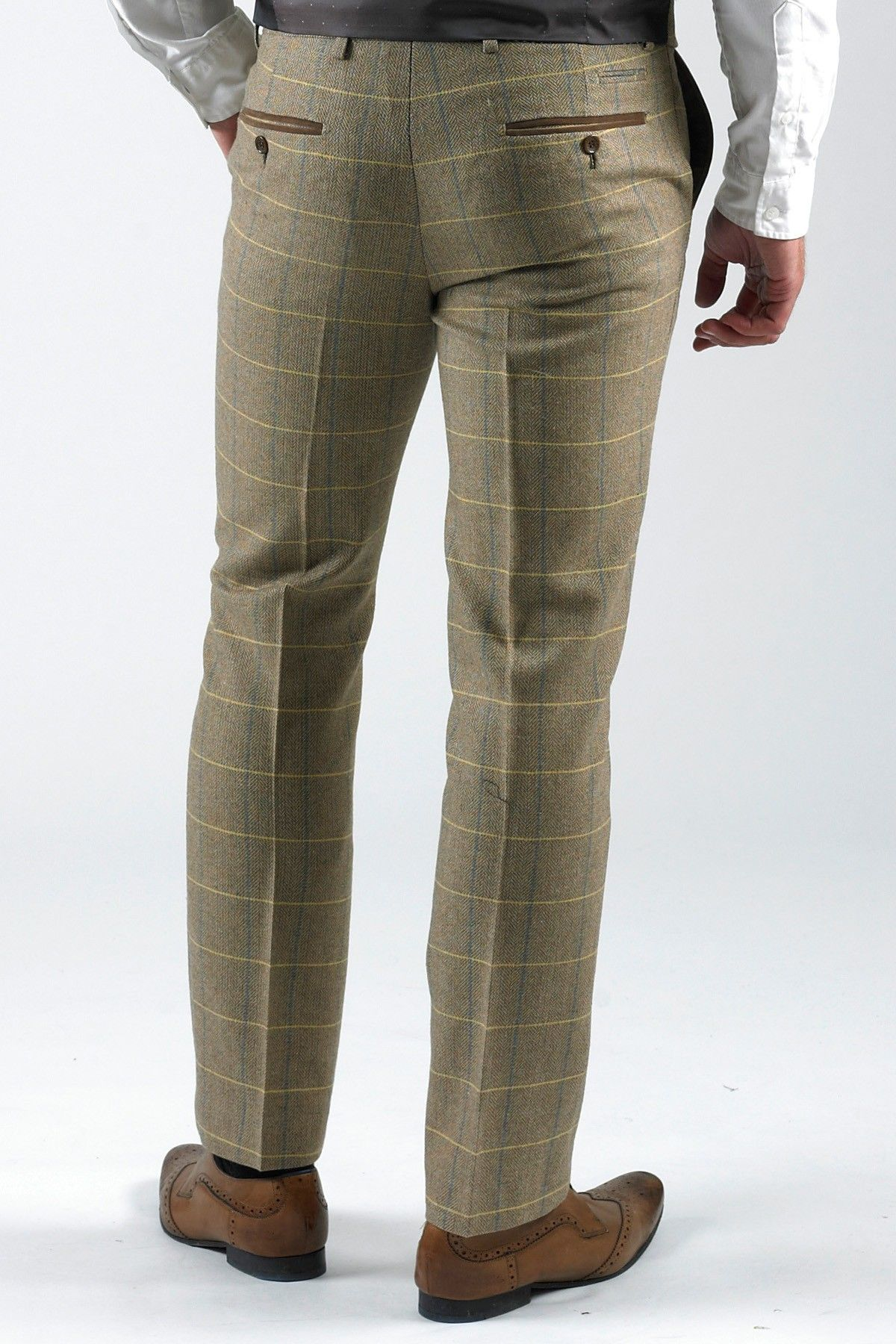 eb82efcfcb2f 30 Waist Trousers | Smart Mens | Tweed | Herringbone | Vintage | Check |  Trousers | Marc Darcy Marc Darcy Menswear