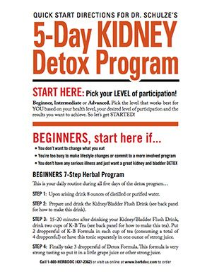 5 Day Kidney Detox Program - Dr. Schulze's Kidney Cleanse - herbdoc.com