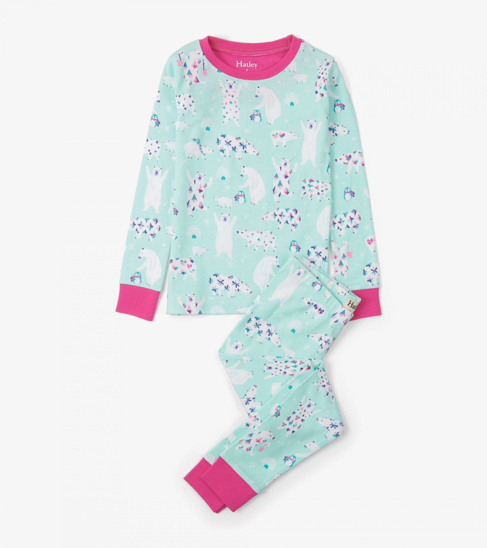 ab82a642d355 Arctic Party Organic Cotton Pajama Set  girlspajamas