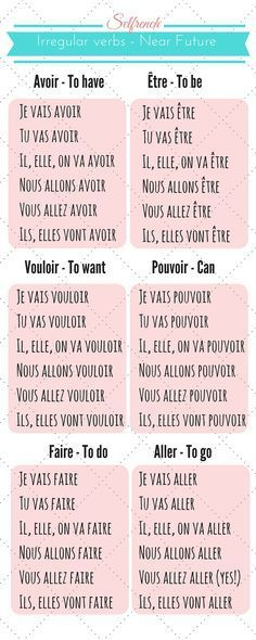 Learn French Irregular verbs conjugation French course Selfrench