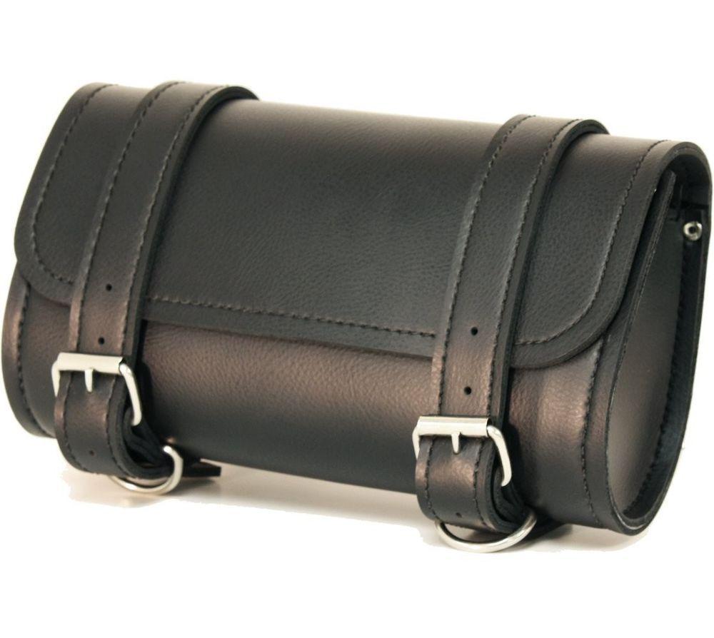 Motorcycle Bag Black Leather S Handlebar Box Fuel Helmets Motors Fuelhelmets