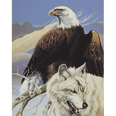 3fe561b348 Ben and Jonah Royal Plush Extra Heavy Queen Size Top Hunters - Wolf and  Eagle Blanket