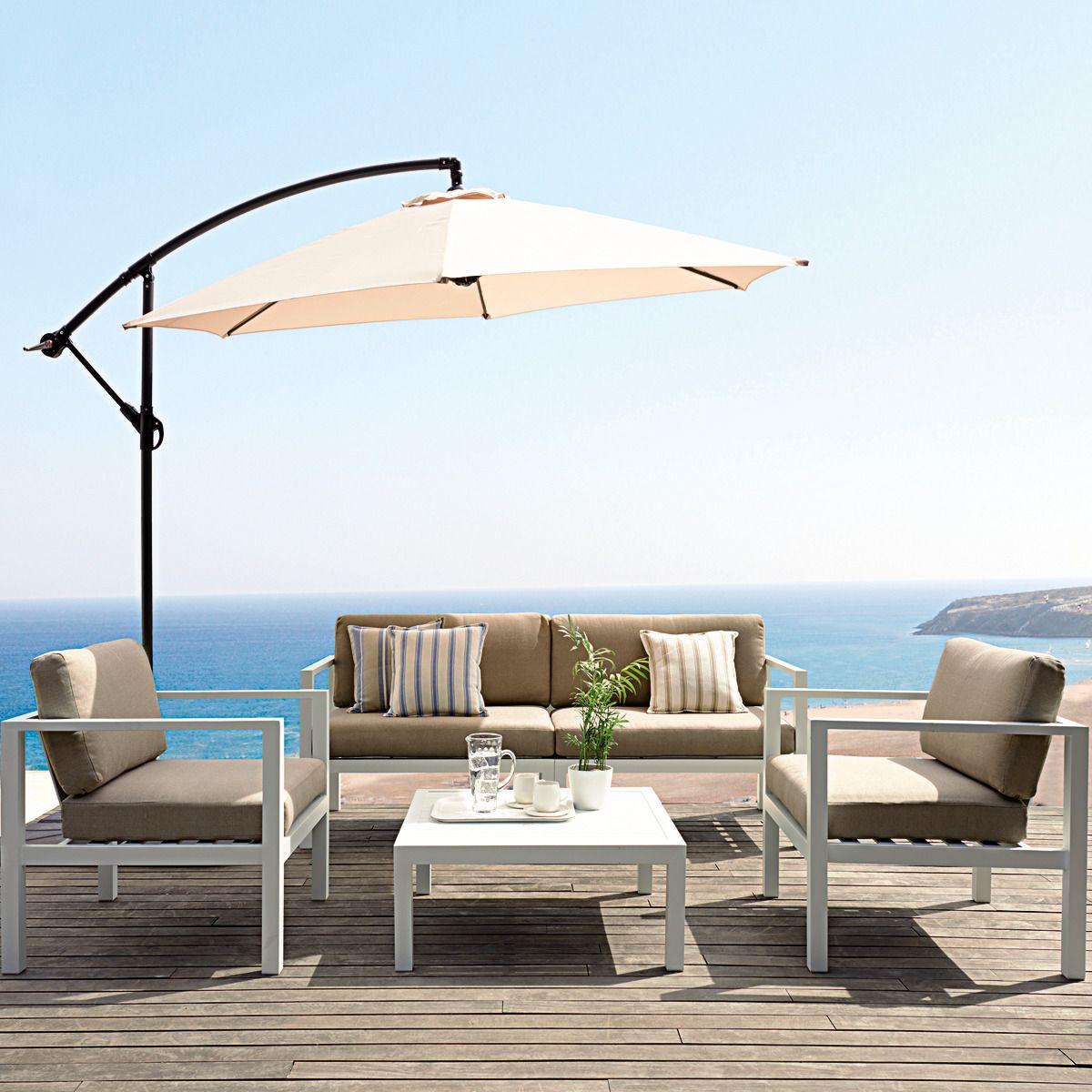 Conjunto con mesa de centro madison deco jard n terraza for Conjunto de terraza ikea