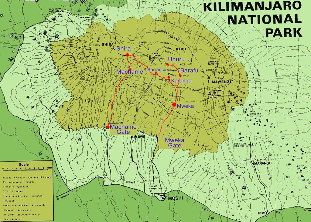 Mount Kilimanjaro Guided Climbing Expedition With Alpine Ascents - Africa map kilimanjaro