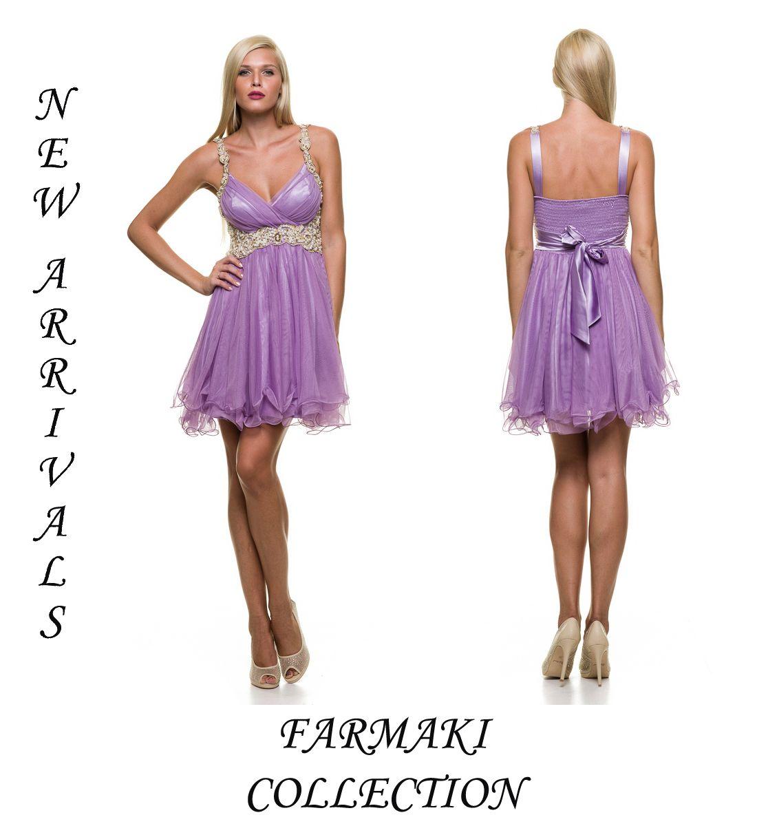 fccf232dea59 Φόρεμα κοντό με ράντες κεντημένες. Κέντημα κάτω από το στήθος. Ύφασμα τούλι.