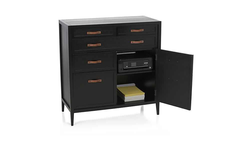 Newman Compact Office Desk Crate And Barrel Modern