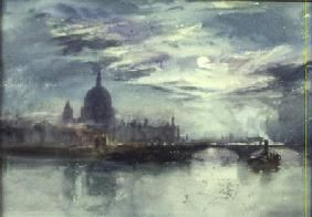 Wright Richard Henry - View of the Thames with St. Paul's in the Distance