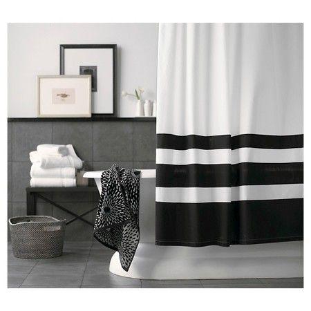 Threshold Color Block Shower Curtain Black White Target