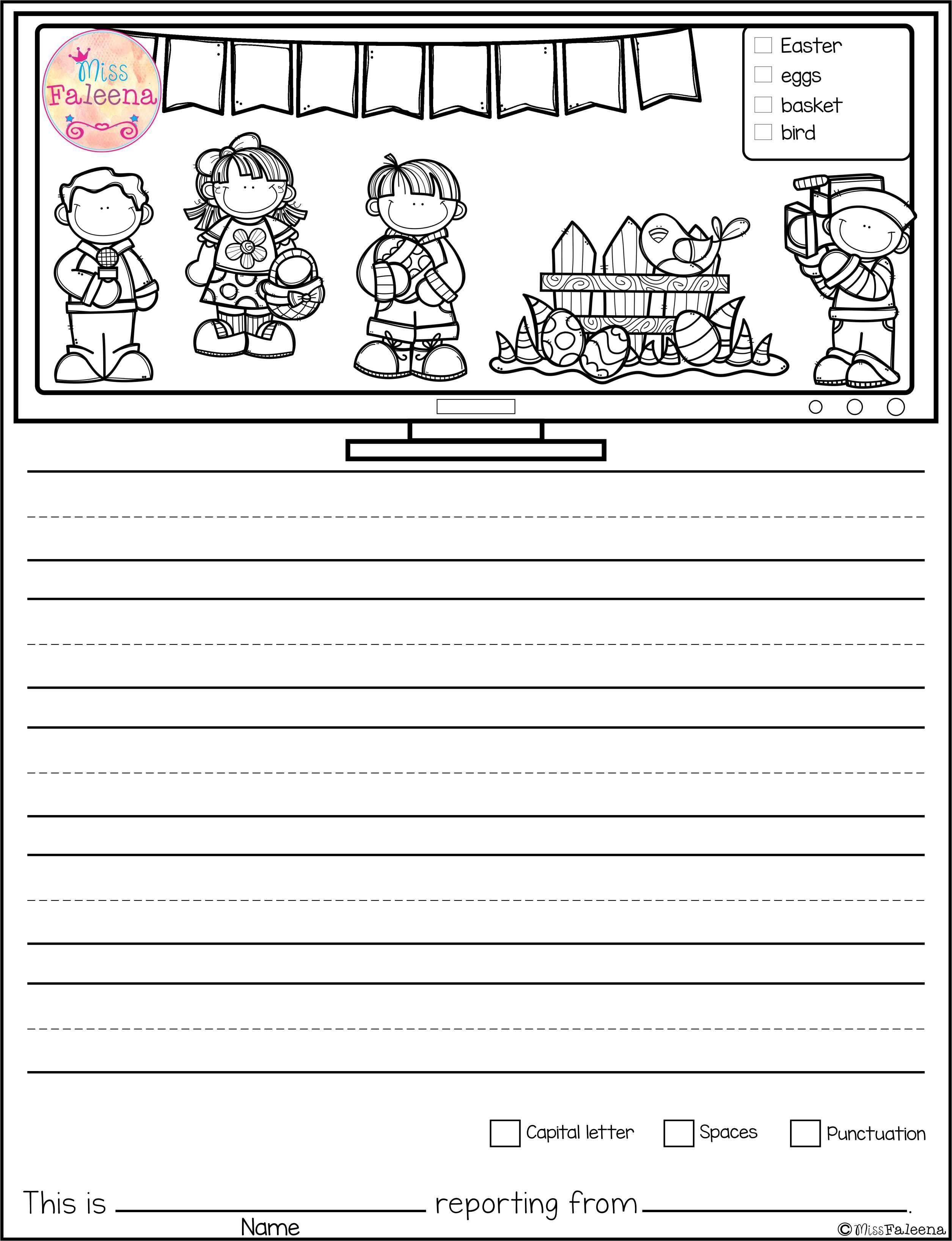 worksheet Writing Skills Worksheets april writing picture prompts news reporter pictures march contains 30 pages of worksheets this product is suitable for kinder