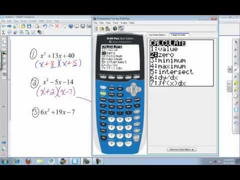 Calculator (college algebra): Factoring using the TI 84 - YouTube ...