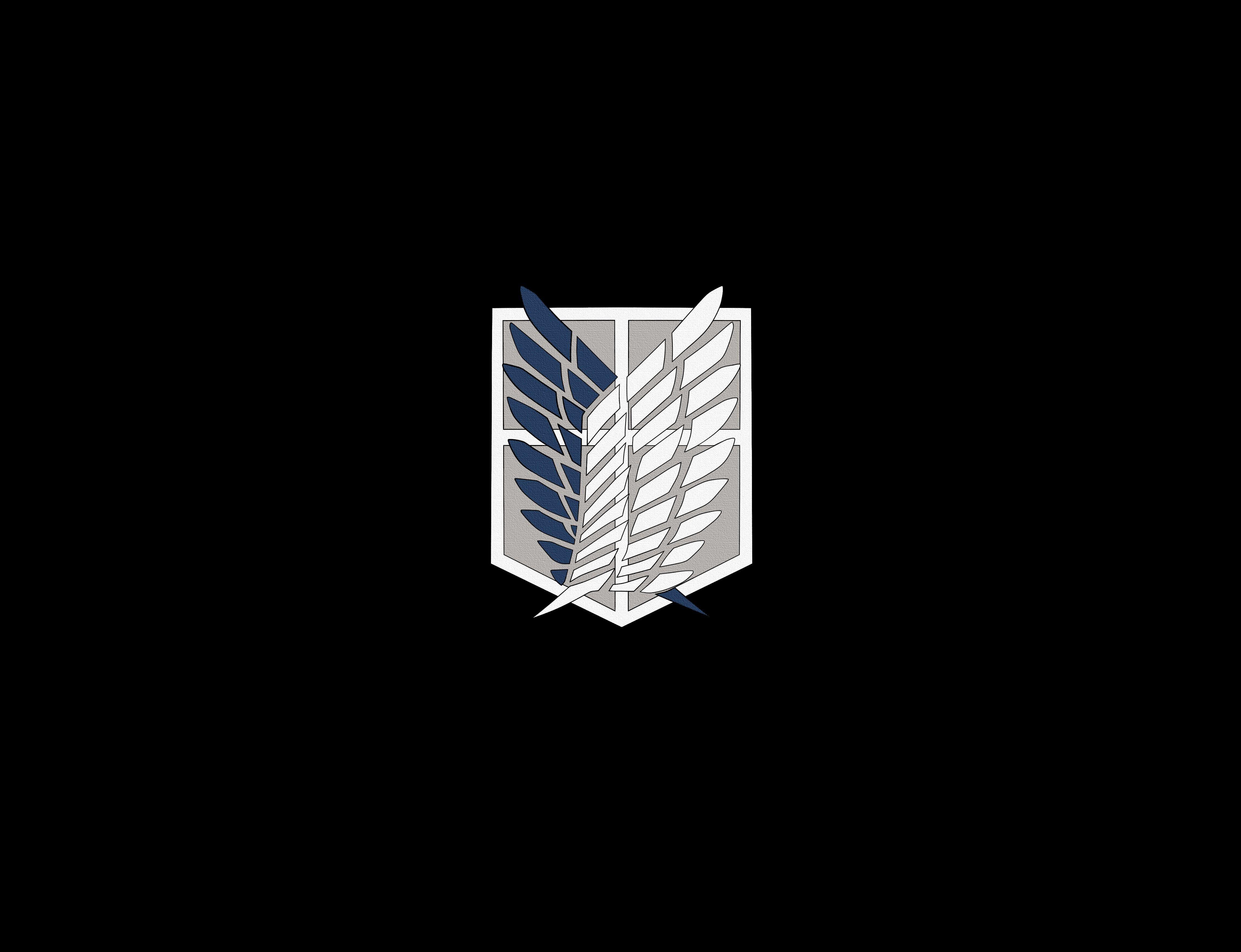 Kawaii wallpaper, levi wallpaper, logo wallpaper, mikasa wallpaper, minimalist. Attack on Titans icon Shingeki no Kyojin #anime # ...