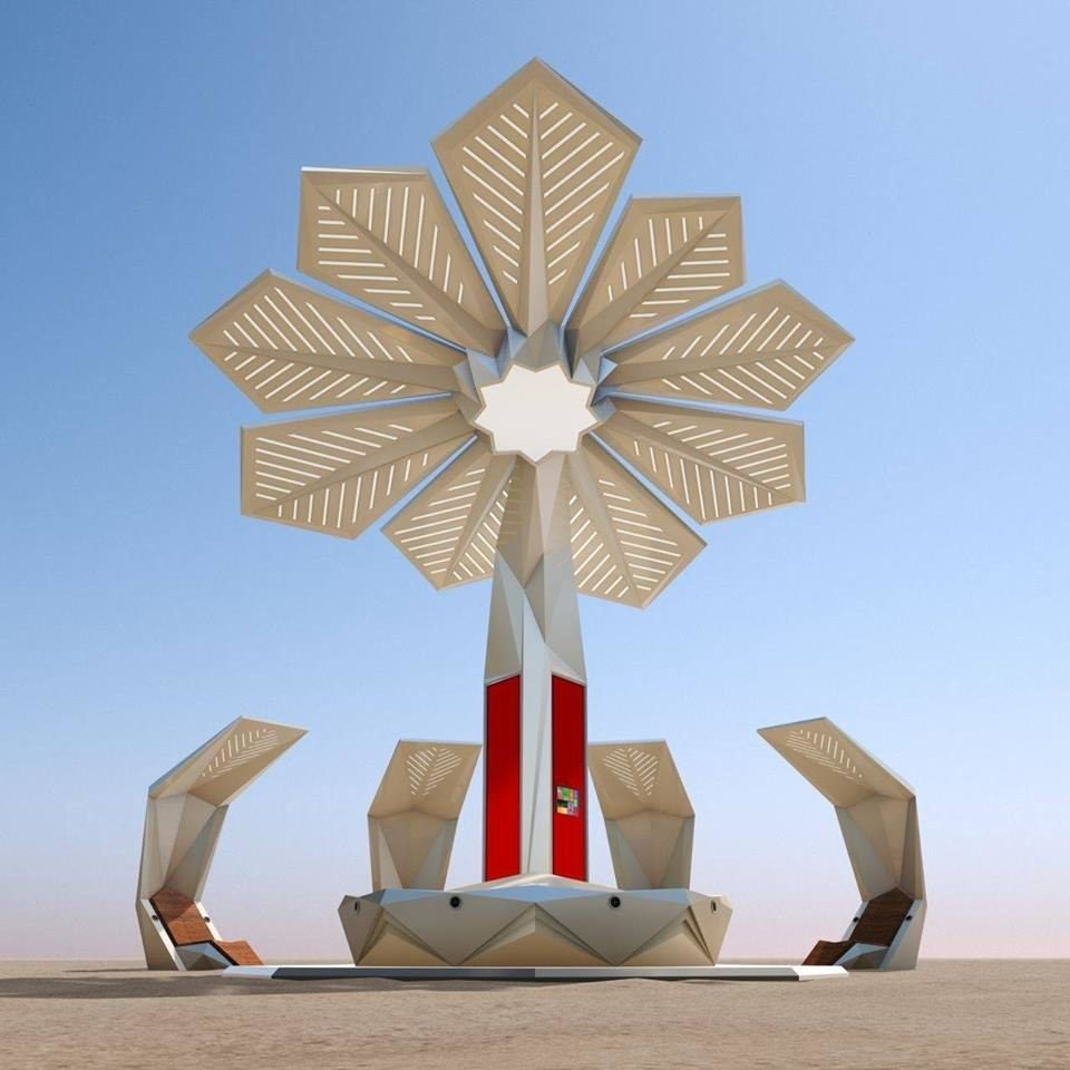 These Solar-Powered Palm Trees Provide Wi-Fi, Charging Stations, and Shade