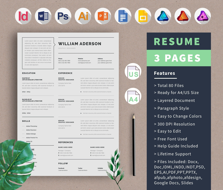 Google docs resume template cover letter and portfolio