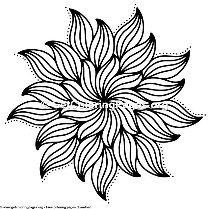24 Simple Mandala Coloring Pages
