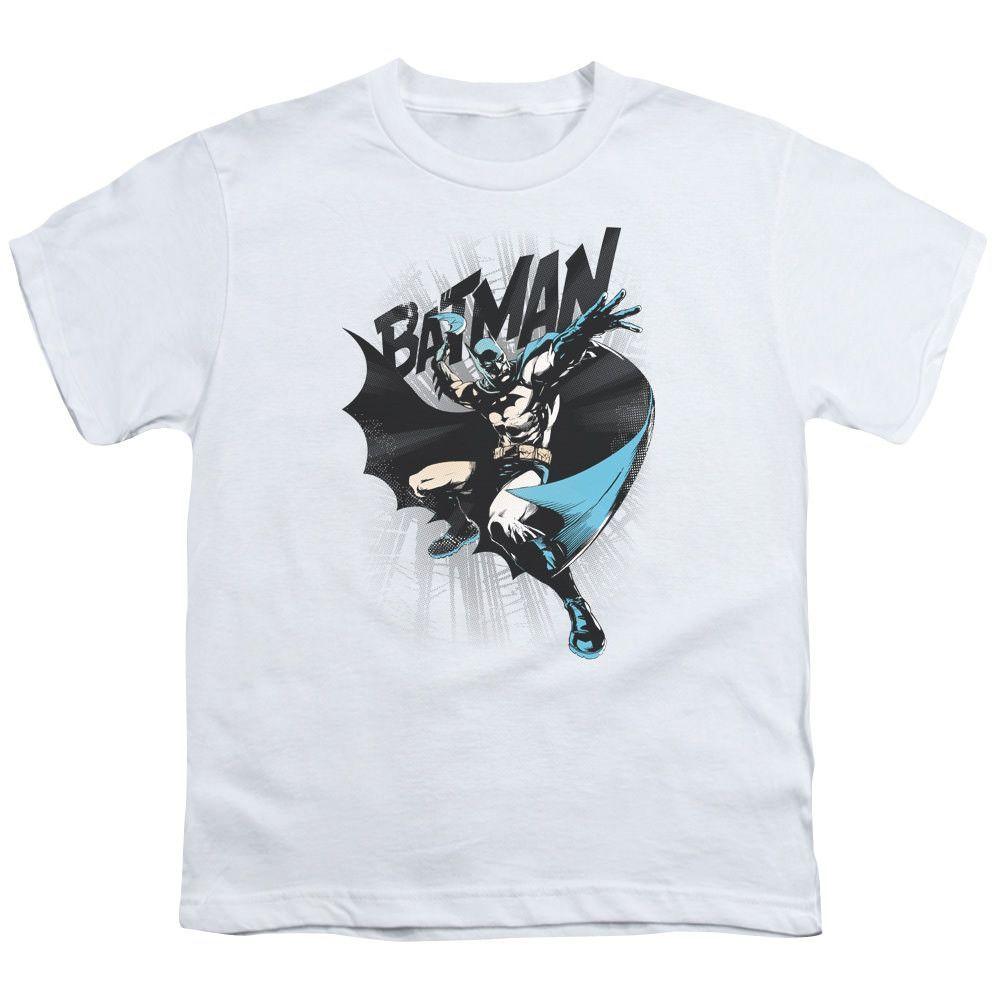 Batman Batarang Throw White Youth T-Shirt