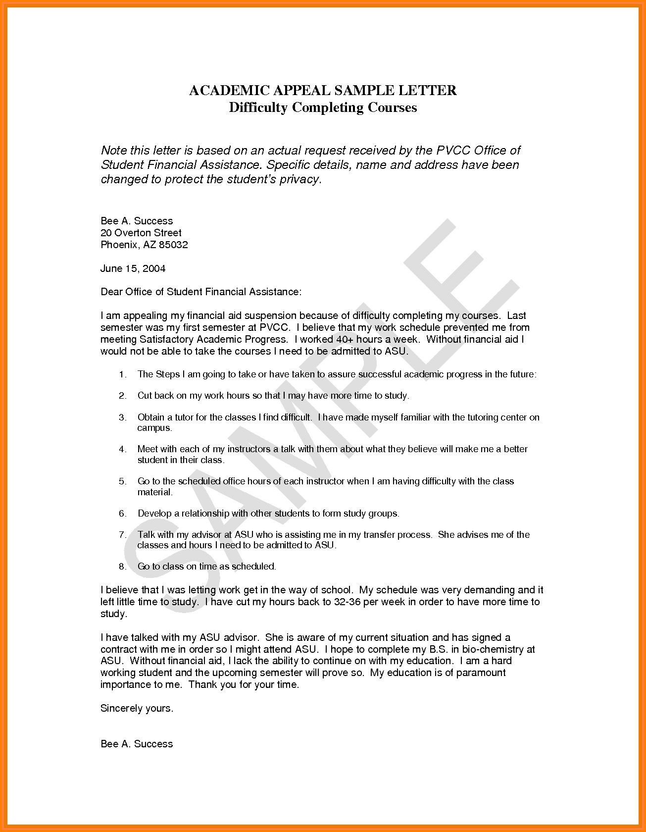 Samples Of Financial Aid Appeal Letters Best Of 13 Financial Aid