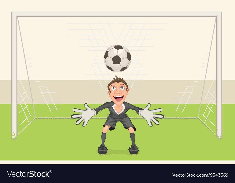 Goalkeeper Catches Soccer Ball Penalty Kick In Vector Image On Vectorstock In 2020 Penalty Kick Goalkeeper Soccer Ball